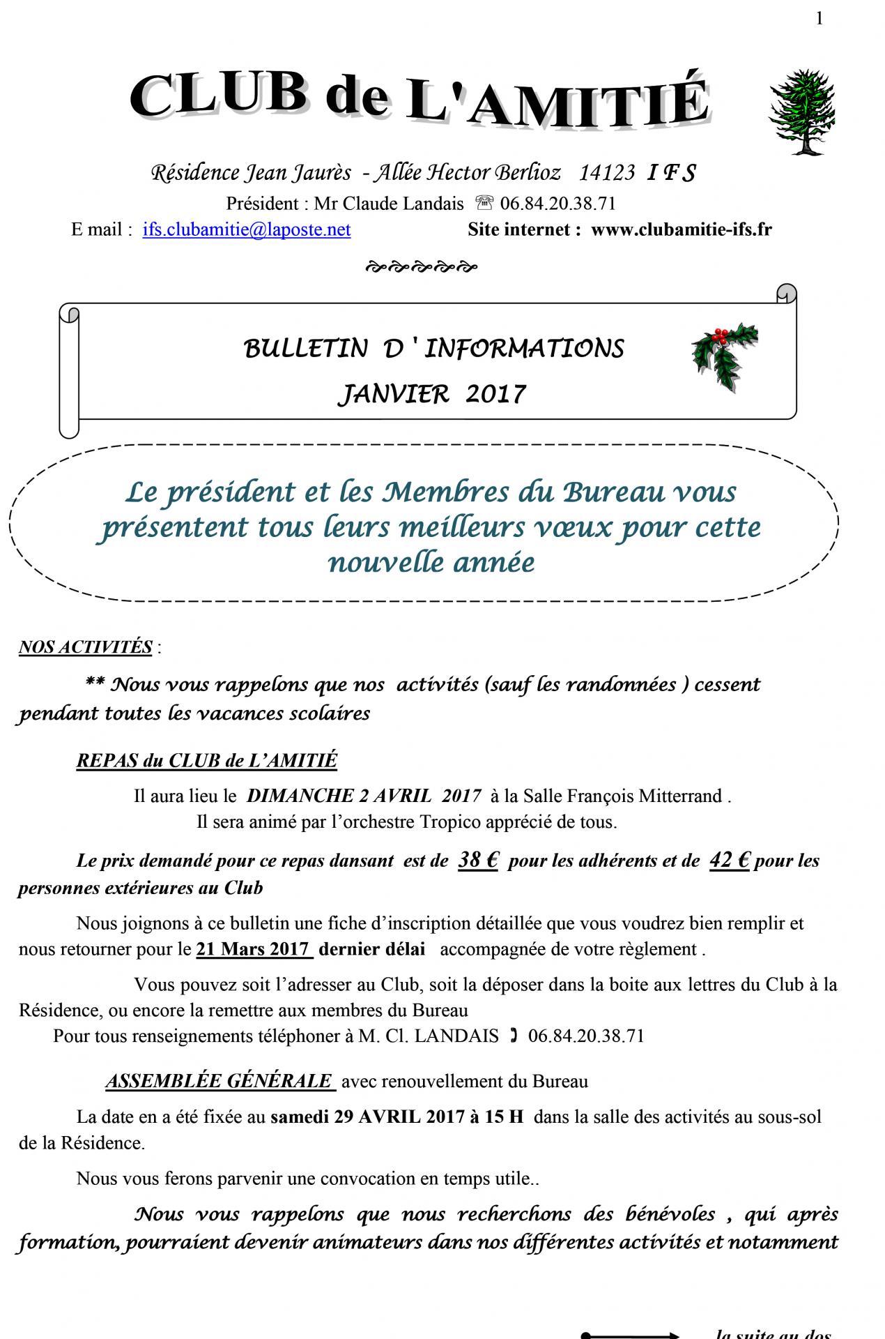 Bulletin janvier 2017 n 2 1